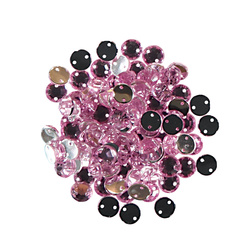 Rhinestone 8mm rose 80-100 pcs