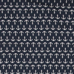 Wowen viscose navy with anchor