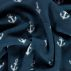 Polar fleece dark blue w white anchor