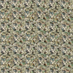 Woven viscose green with small flowers