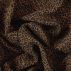 Woven viscose camel with animal print