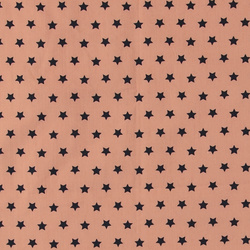 Woven cotton powder with navy stars