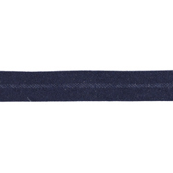 Bias tape cotton 13mm navy 5m