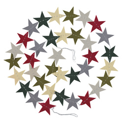 Kit felt garland 36pcs stars 1 set