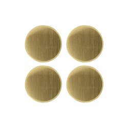 Shank button 29mm brushed gold 4 pcs