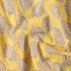Cotton unbleached/yellow w dotted lemon
