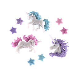 Shank button Unicorn 35-39mm 3pcs