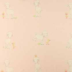 Cotton light pink with lamb