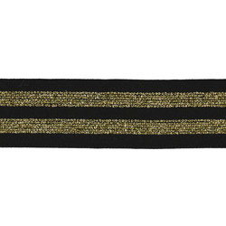 Folding elastic 38mm black/gold 2m