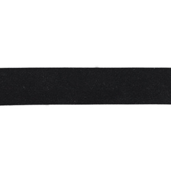 Bias tape satin 18mm black 5m