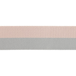 Ribbon 38mm light grey/pink 4m