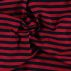Stretch jersey Y/D red/navy stripes