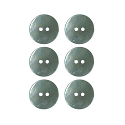 Button 2-holes pearl 20mm mint 6pcs