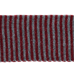 Tube knit 60mm grey mixture/red 1m