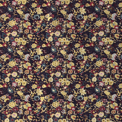 Fat Quarter 45x55cm,Blau/Rot/Gold Blumen