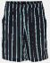 Woven crepe viscose navy with stripe
