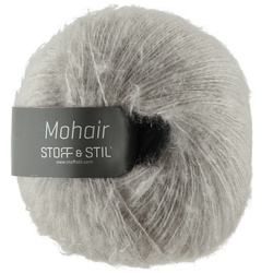 Knitting yarn mohair light grey