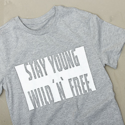 """""""STAY YOUNG"""" T-SHIRT WITH SOFTTEX FABRIC PAINT"""