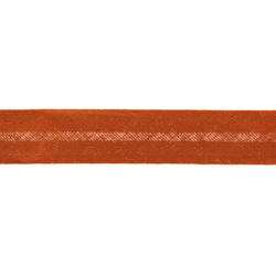 Bias tape cotton 18mm orange 5m