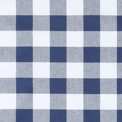 Yarn dyed check dark blue/white