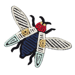 Patch cicada 63x43mm mix colour 1 pcs