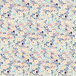 Patchwork 45x55cm turkis m blomster