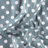 Non-woven oil cloth ds blue w white dots