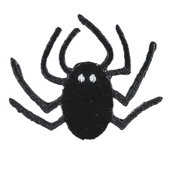 Stoffapplikation Spinne 45x35cm Schwarz