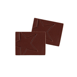 Patch imitated leather 35x45mm brown 2pc