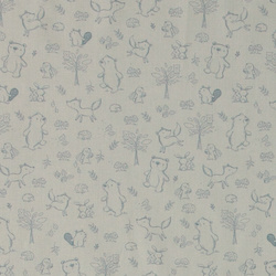 Cotton soft blue w animals