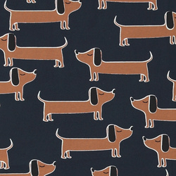 Stretch jersey navy with dogs