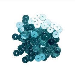 Pailletter 6mm turkis 10g