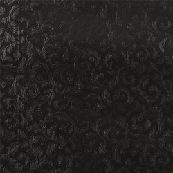 Non-woven oilcloth embossed black