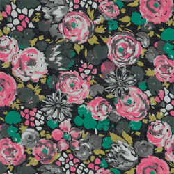 Patchwork 45x55cm rosa/blomster