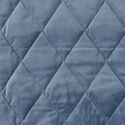 Quilted velour dusty blue