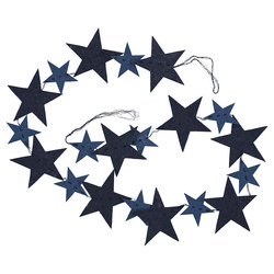 Kit felt garland 20pcs stars blue mix