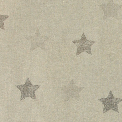 Linen look w sand/grey abstract stars