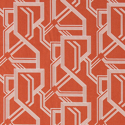 Cotton rust red w white graphic print