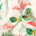 Percale white w flamingo/botanic