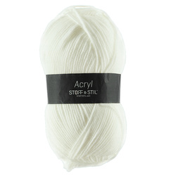 Knitting yarn acrylic 100g white