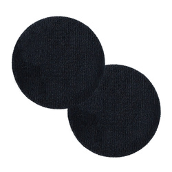 Shank button velour 45mm dark blue 2pcs