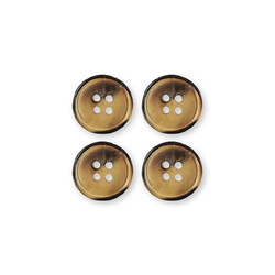 Button wood 4-holes 18mm 4pc