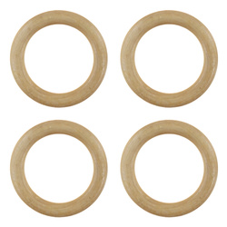 Curtain ring wood 39/56mm 4 pcs