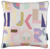 Cotton abstract multi colour alphabet