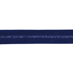 Bias tape cotton 18mm cobalt 25m