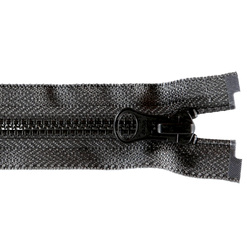 YKK zip 4mm closed end black/grey