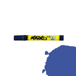 Textile pen permanent 5mm blue