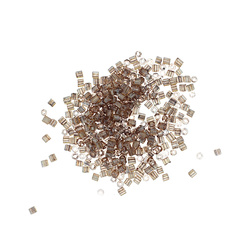 Beads glass 4mm golden semi-transp 400pc