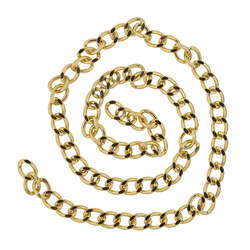 Chain 8mm gold 150cm