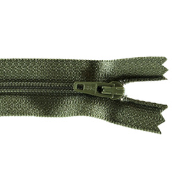 YKK zip 4mm coil closed end army